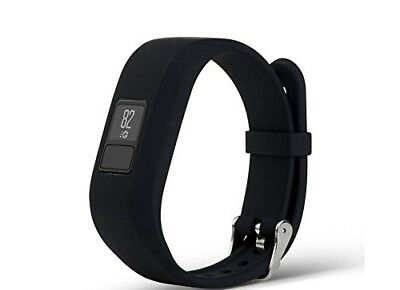 (Black) - CoolDi Replacement Wristband With Secure Clasps for Garmin Vivofit 3