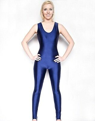 (3X) - NawtyFox Navy Blue Sleeveless Dance Unitard. Nawty Fox. Shipping Included