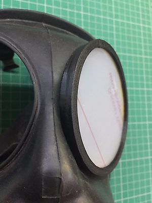 S10 FM12 Gas Mask outsert outer rings (3D Printed) and polycarbona lenses