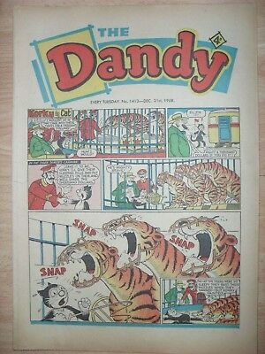 DANDY - 21st DECEMBER 1968 - NOVEL 50th BIRTHDAY GIFT!!