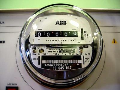 120v or 240v ABB Elster Electric WATTHOUR METER Tested Clean Sub-Meter House RV