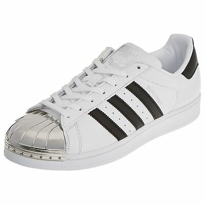 827e7b7504b63c Adidas Superstar Metal Toe Footwear White Core Black Womens Leather Trainers