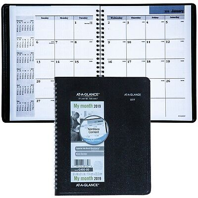 """2019 At-A-Glance DayMinder G400 G400-00 Monthly Planner, 6-7/8 x 8-3/4"""""""