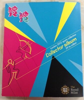 London 2012 Olympic Games Sports collector Album all 29 coins and Album