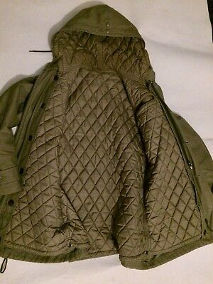 German Army Bundeswehr Parka Windproof Thermal Liner Vintage Rare NATO ECW Green