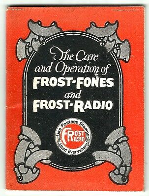 FROST FONES AND FROST RADIO - MINIATURE BOOKLET - 1920's