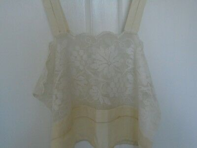 Early Vintage Silk and Lace cream Camisole from the 1920's