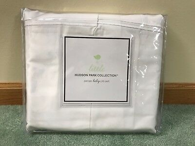 little HUDSON PARK COLLECTION 100% Percale Cotton Baby Crib Skirt White NIP