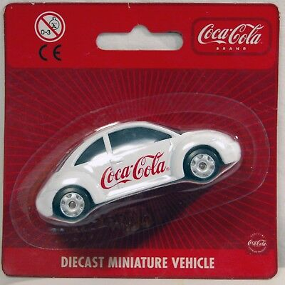 Coca Cola Macchinina  Volkswagen New Beetle - Diecast Miniature Vehicle