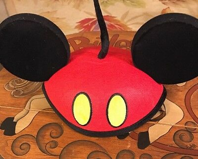 Disney Parks Mickey Parts Ear Hat Youth Chin Strap Cute Mickey