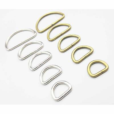 Metal Silver D Rings Chrome For Webbing Strapping Craft Belt Purse Bags