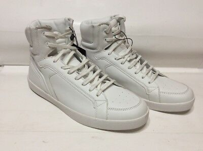 6c8c8c33 NEW ZARA MEN WHITE HIGH TOP SNEAKERS SHOES SIZE 9 Or 42 REF 2500/202 JBY