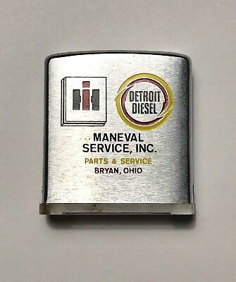 Vintage IH International Harvester & Detroit Diesel Zippo Advertising Magnifying
