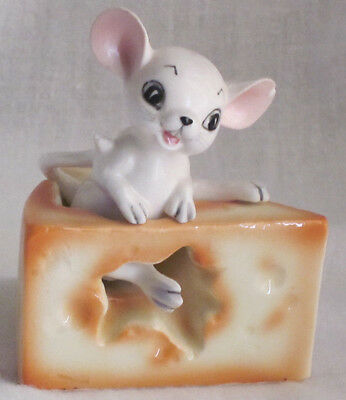 Vintage Mouse & Cheese Salt & Pepper Shakers - Japan
