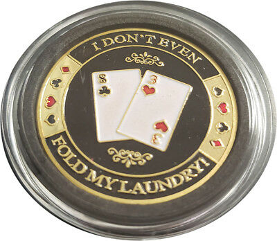 Casino Poker Card Guard Cover Protector I don't even fold my laundry!