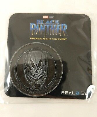 Black Panther Movie Promo 2018 Coin Opening Night Fan Event Real D 3D Promotion