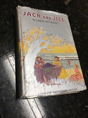 VINTAGE JACK AND JILL Book By Louisa M. Alcott With Dust Jacket Grosset & Dunlap