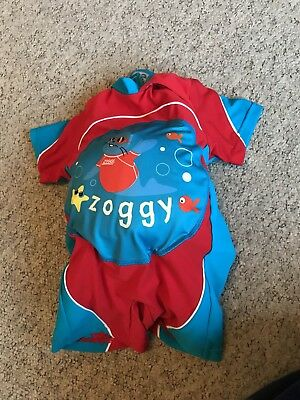 Children's  Red & Blue Zoggs Swimming Inflatable  Float Suit Age 1-2 years Vgc