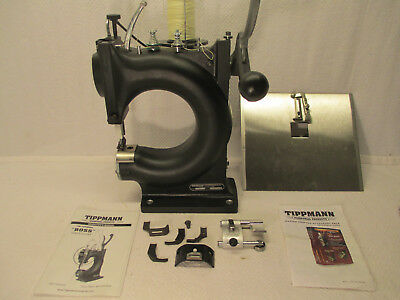 Tippmann Boss Leather Sewing Machine Model HS W/Master Crafter Acc Pack Flatbed