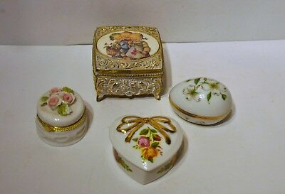 Trinket Boxes set of 4 - 1 Royal Albert Old Country Roses