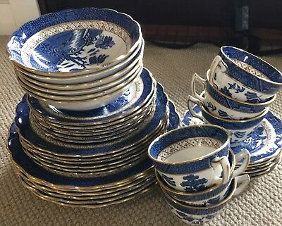 Dinner Set For 6 Real Old Willow A8025 As New