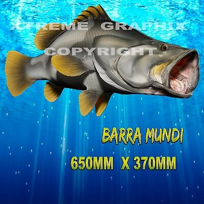 Barramundi Decal Left&right 650Mm X 370Mm  Boat / Car / Truck
