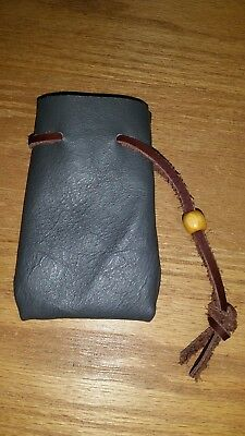 Leather jewelry bag, dice bag, medium size ,coin pouch, Larp, Cosplay ,Ren Fair