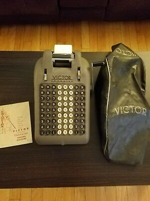 Vintage Victor Champion Adding Machine With Cover