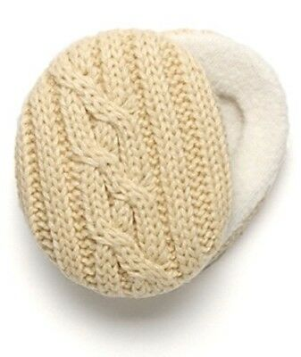 Sprigs Earbags Ivory Cable Knit BNIP Bandless Earmuffs