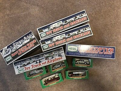 Collectible Lot of 12 Hess collectible trucks. New in box. Year 2001+