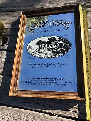 Vintage Retro Southern Comfort Advertising Mirror Great Man cave Item