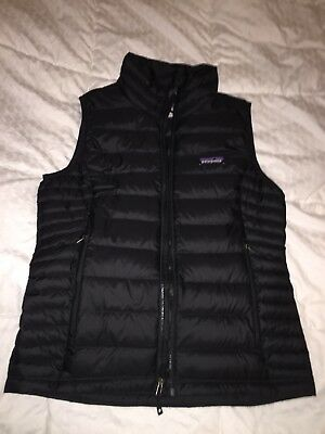 Patagonia Womens S Down Puffer Sweater Vest Black