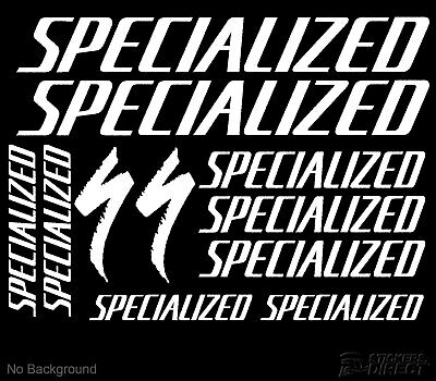 Specialized Decals Set of 11 Cycling Bike Stickers Outdoor Grade Vinyl AnyColour