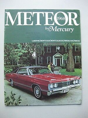 Mercury Meteor Montcalm Rideau prestige brochure Prospekt English 1968 24 pages