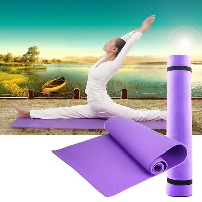 6mm Universal Thick Non-Slip Yoga Mat Exercise Pad Fitness Lose Weight