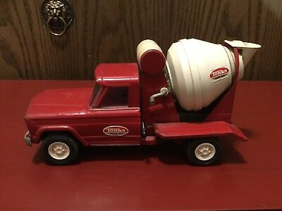 "Vintage 1960's Tonka Jeep Cement Mixer Pressed Steel 10"" Length Mound, MN"