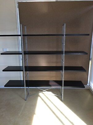 Ikea shelving storage bookcase 4 tier INDUSTRIAL style WALL SHELVES