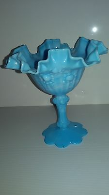 Vintage Fenton candy dish blue marble PICK UP ONLY VIC