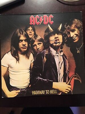 ANGUS YOUNG signed vinyl record