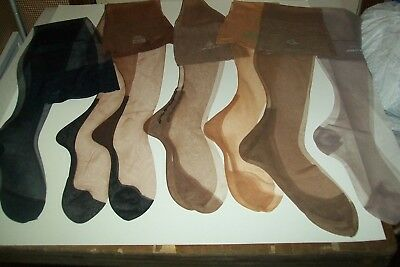 Vintage 6 Pairs Of Glamorous Sexy Sheer Stockings  W/ Cuban Foot Take A Look