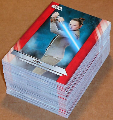 Star Wars Episode VIII - The Last Jedi - Complete Card Set (100) Topps 2017 - NM