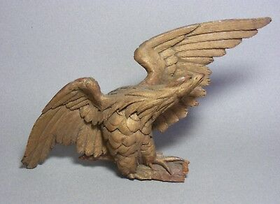Small Antique Carved Wood Eagle - As Is