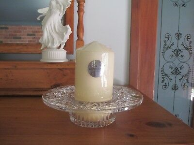 WATERFORD - Made in Ireland - BETHANY - Crystal Candle Holder + Candle