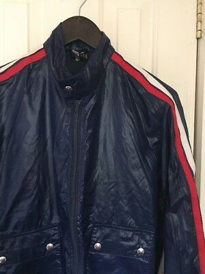 Vintage 70's Navy Blue Windbreaker Raincoat Size 8
