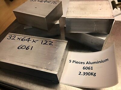 5 x Aluminium Billets - Bar Remnants -  Model Engines Mill Lathe Myford 2.390Kg