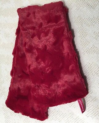 American Girl Scarf Red Stars Faux Fur Plush Fit Girl Not Doll Christmas Holiday