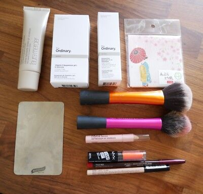 Mixture of Makeup and Skincare Products As New
