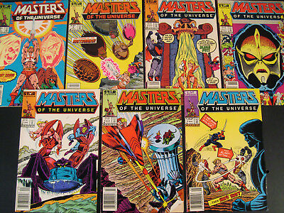 Masters of the Universe # 1 2 3 4 5 6 7 Marvel STAR Comics 1986 Series HE-MAN