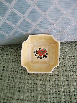 """Hand-painted Rainbow glazed 3"""" x 3"""" vintage trinket or sauce dish made in Japan"""