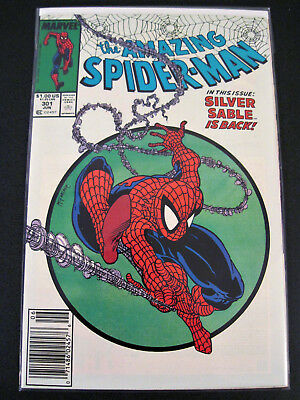 Amazing Spider-Man #301 Copper Age Marvel Comics SILVER SABLE McFarlane Issue